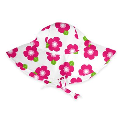 i play.® Size 2-4T Pink Flower Brim Sun Hat in White