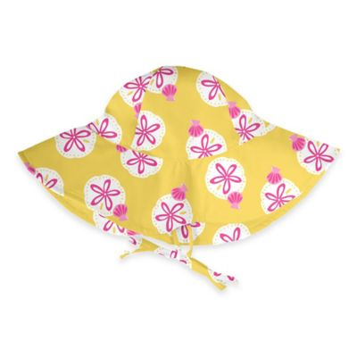 i play.® Size 0-6M Sand Dollar Brim Sun Hat in Yellow