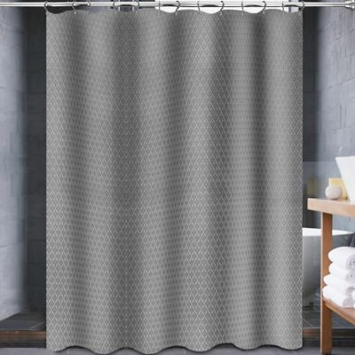 Avalon 70-Inch x 84-Inch Shower Curtain in Grey