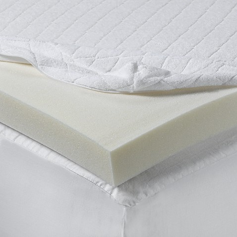 Buy isotonic 2 inch visco elastic memory foam twin extra long twin mattress topper from bed Memory foam mattress topper twin