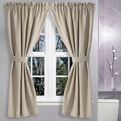 Avalon 36-Inch x 54-Inch Bath Window Curtain in Canvas
