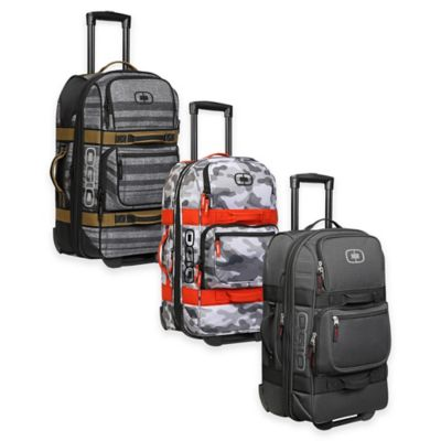 OGIO Layover Rolling Duffle Carry On in Snow Camo/Orange