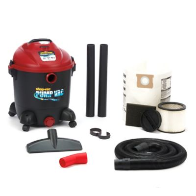 Shop-Vac® 9603200 12-Gallon 5.0 Peak HP Wet/Dry Pump Vacuum in Black/Red