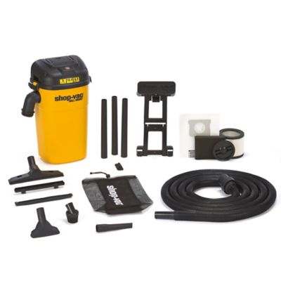 Shop-Vac® 3942300 5-Gallon 4.0 Peak HP Wall Mount Series Wet/Dry Vacuum in Yellow/Black