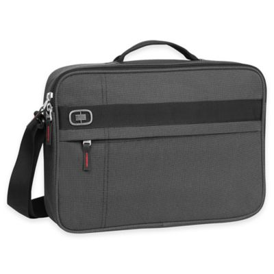 OGIO Renegade Top-Zip Laptop Briefcase in Black Pindot