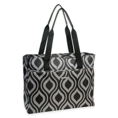 WallyBags® Tote Bag in Black/Grey