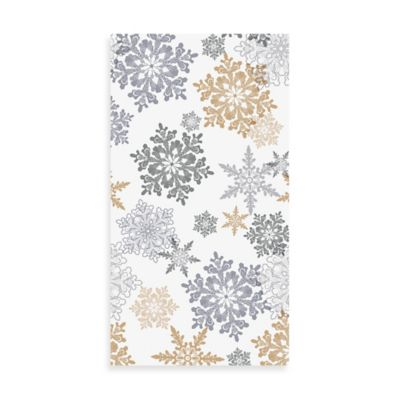 Snow Much Fun 20-Count Guest Towels in Silver