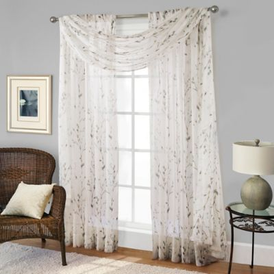 Willow Print Window Scarf Valance