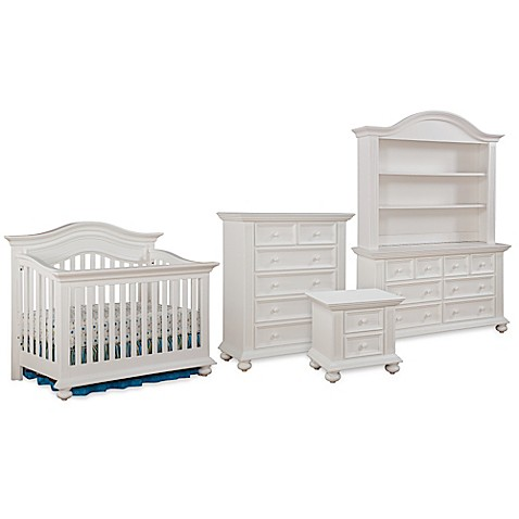 kingsley keyport nursery furniture collection in white