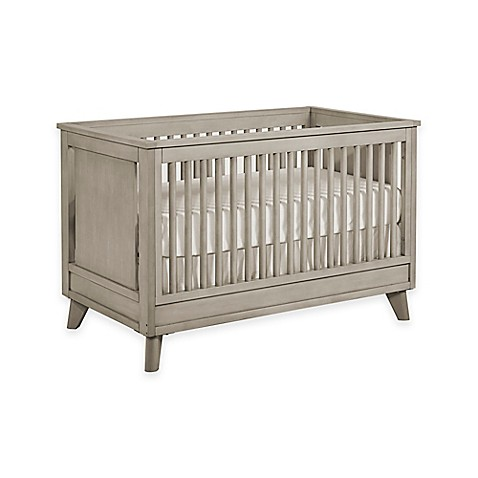Kingsley Wyndham 3 In 1 Convertible Crib In Ash Grey Bed