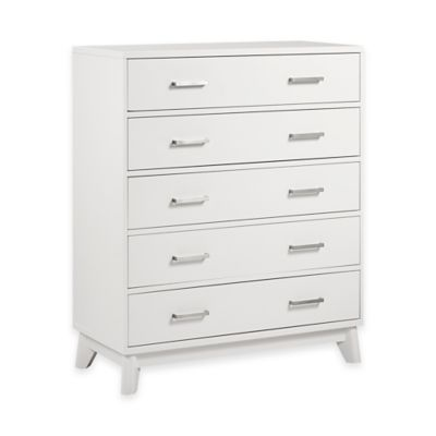 Munire Wyndham 5-Drawer Chest in White