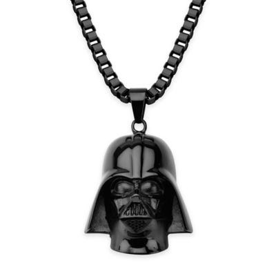 Star Wars™ Stainless Steel 22-Inch Chain Darth Vader Necklace