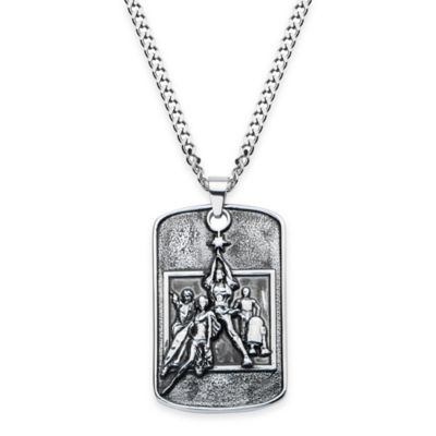 Star Wars™ Stainless Steel 22-Inch Chain Poster Relief Dog Tag Necklace