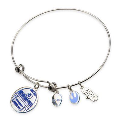 Silver Blue Bangle Bracelet