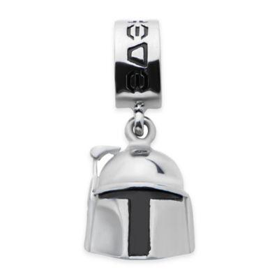 Star Wars™ Stainless Steel Boba Fett Helmet Dangle Charm