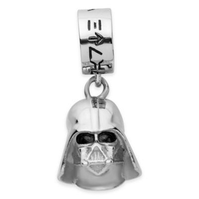 Stainless Steel 3D Darth Vader Dangle Charm