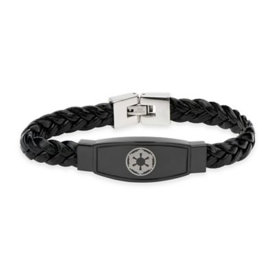 Star Wars™ Imperial Symbol Braided Leather Bracelet