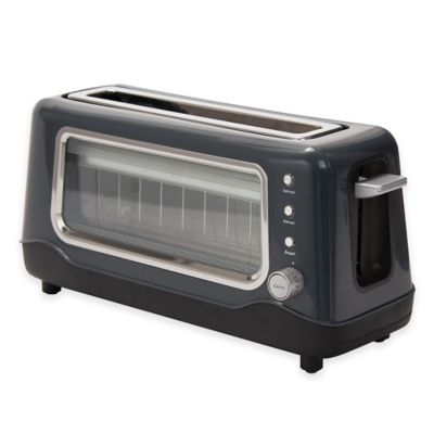 DASH™ Clear View Toaster in Grey