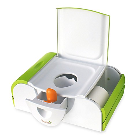 Boon Potty Bench Training Toilet with Side Storage in Green