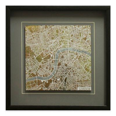 Gilded London Map Framed Wall Art