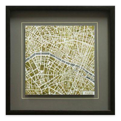 Gilded Paris Map Framed Wall Art