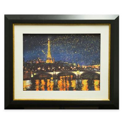Paris Nights Blue I Framed Wall Art