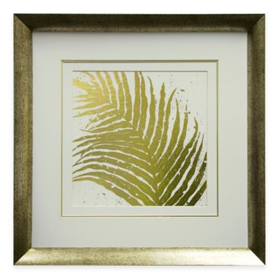 Gold Leaves I Framed Wall Art