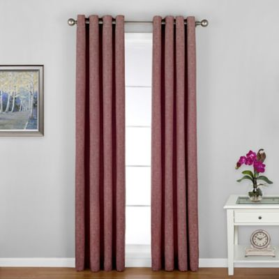 Regal Home Woodgrain-Lined 84-Inch Grommet Window Curtain Panel in Brick