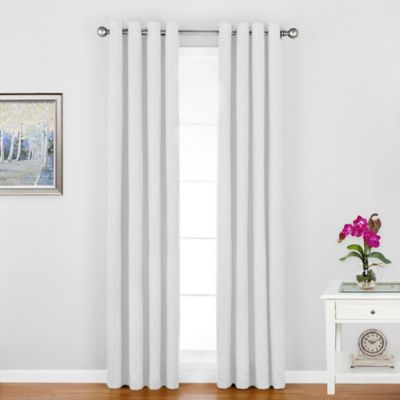 Regal Home Woodgrain-Lined 84-Inch Grommet Window Curtain Panel in White