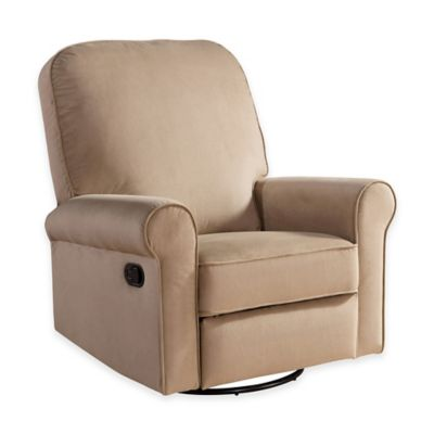 Abbyson Living® Penelope Nursery Swivel Glider Recliner in Grey