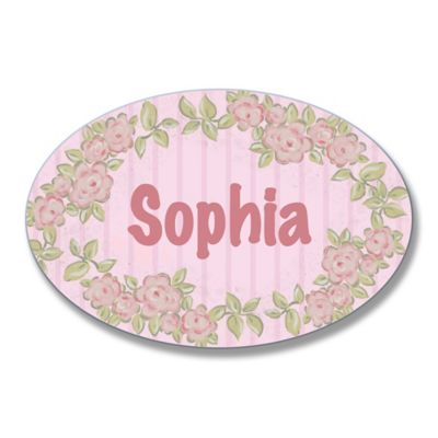 Stupell Pink on Pink Floral Oval Wall Art