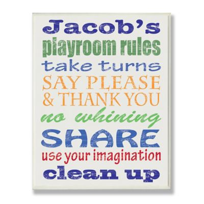 Stupell Boy's Playroom Rules Wall Art