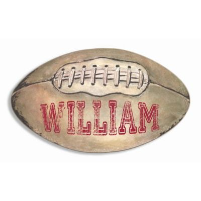 Stupell Football with Laces Oval Wall Art