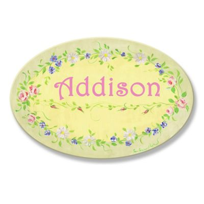 Stupell Green Floral Oval Wall Art