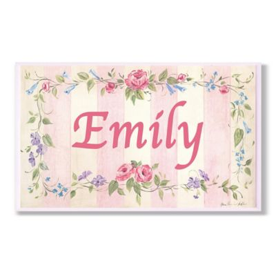 Stupell Pink Stripe Rectangular Wall Art