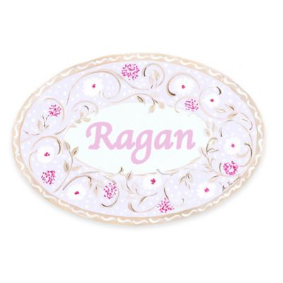 Stupell Pink/Tan Floral Oval Wall Art