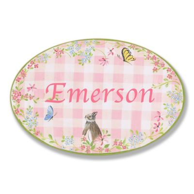 Stupell Pink Gingham Oval Wall Art