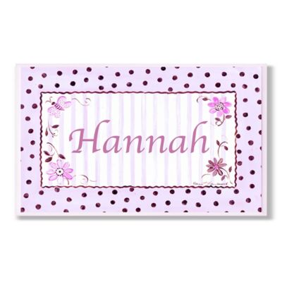 Stupell Pink and Brown Polka Dot Rectangular Wall Art