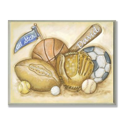 Stupell All Star Sports Rectangular Wall Art