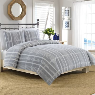 Nautica® Masardis King Duvet Cover Set in Grey