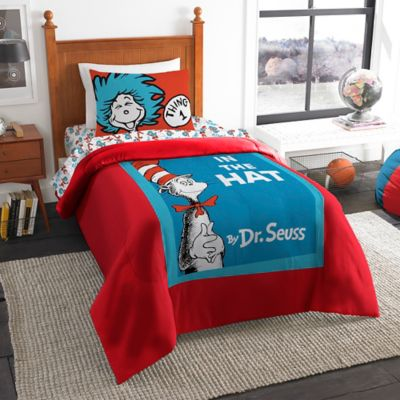 Dr. Seuss' Book Cover Twin Comforter