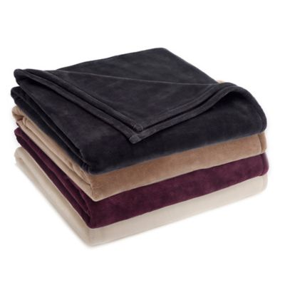 Vellux® Twin Sheared Mink Blanket in Charcoal