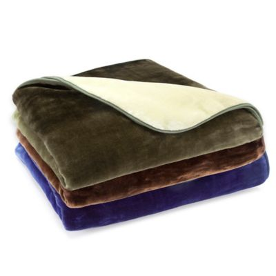 Vellux® Mink Ombre Throw Blanket in Blue