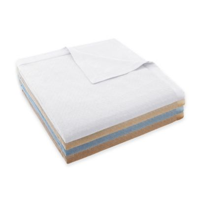 Madison Park Signature 2-in-1 Cotton Sheet Twin Blanket in Ivory