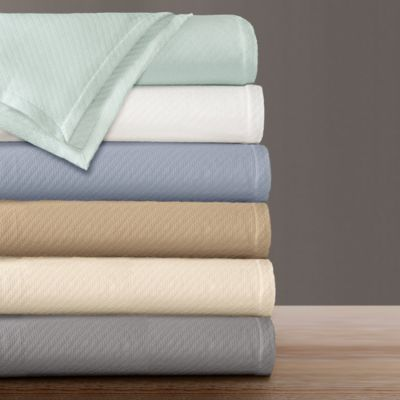 Premier Comfort Liquid Cotton King Blanket in Light Blue