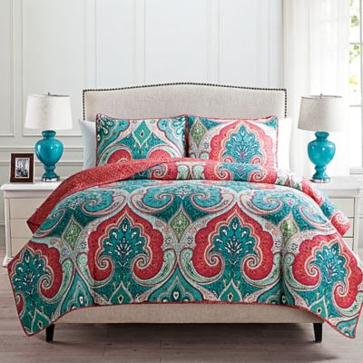 Alessia Reversible Twin Quilt Set