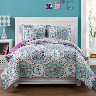 Lana Reversible Twin Quilt Set