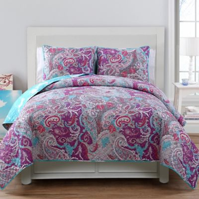 Ava Reversible Twin Quilt Set