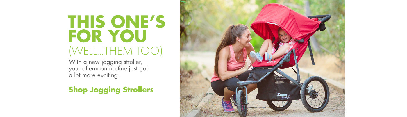 This one's for you...and for them!  Shop jogging strollers.