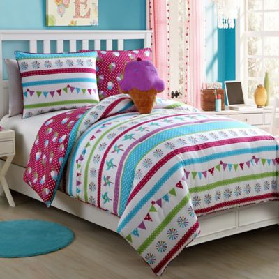 Abby 3-Piece Reversible Twin Comforter Set